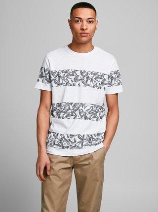 Bílé vzorované tričko Jack & Jones Monday