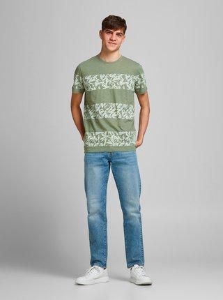 Zelené vzorované tričko Jack & Jones Monday