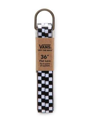 Vans LACES Black White Checkerboard tkaničky do bot - černá