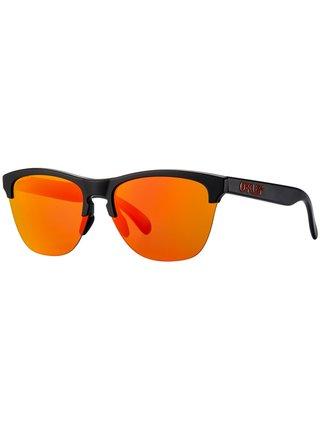 Oakley Frogskins Lite Matte Black w/ PRIZM Ruby sluneční brýle pilotky - černá