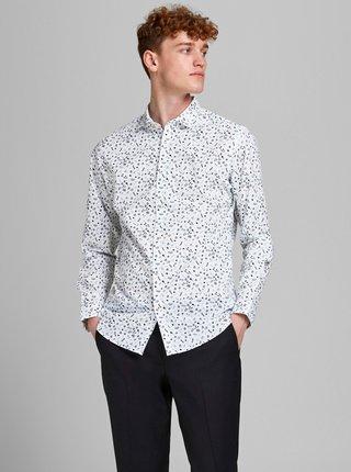 Bílá vzorovaná košile Jack & Jones Graduation