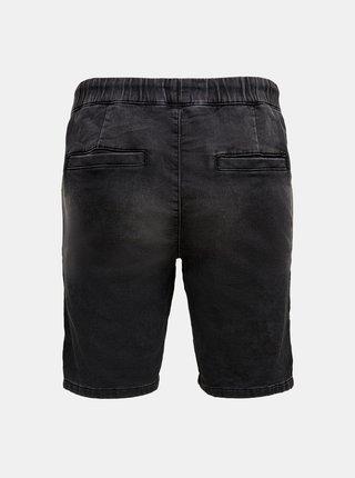 Černé džínové kraťasy ONLY & SONS Rod