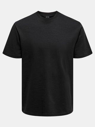 Basic tričká pre mužov ONLY & SONS - čierna