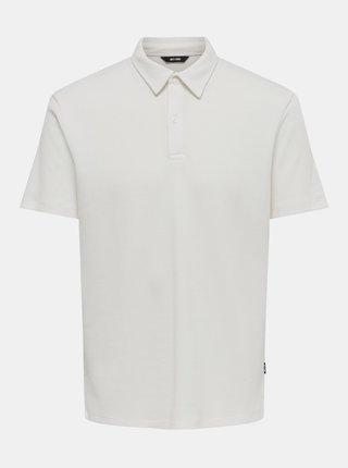 Krémové polo tričko ONLY & SONS Salf
