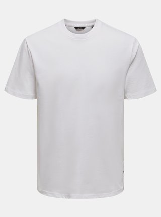 Bílé basic tričko ONLY & SONS Anel