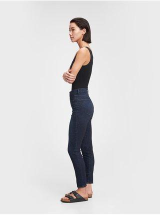 Modré dámské džíny high rise skinny jeans with secret smoothing pockets with W GAP