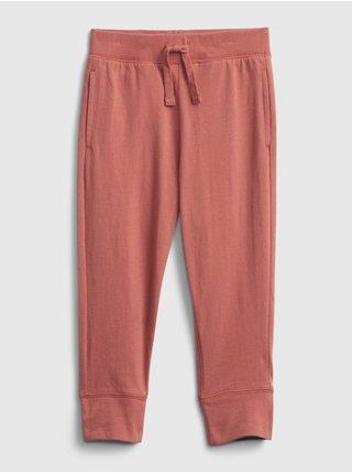 Červené klučičí dětské tepláky 100% organic cotton mix and match pull-on pants GAP