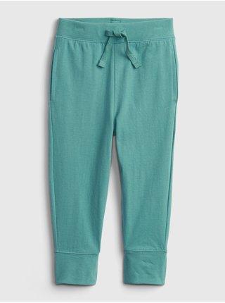 Zelené klučičí dětské tepláky 100% organic cotton mix and match pull-on pants GAP