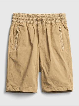 Žluté klučičí dětské kraťasy pull-on hybrid shorts with quickdry. GAP