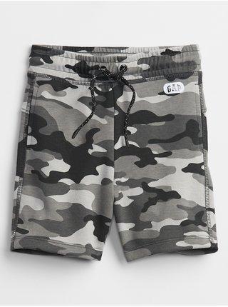 Černé klučičí dětské kraťasy pull-on shorts GAP