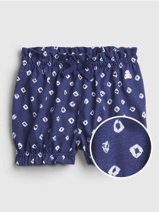 Modré holčičí baby kraťasy 100% organic cotton mix and match pull-on shorts GAP