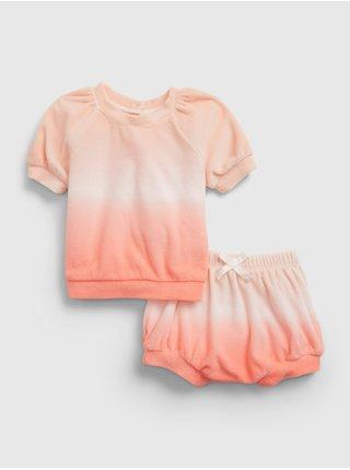 Oranžový holčičí baby set dip-dye outfit set GAP