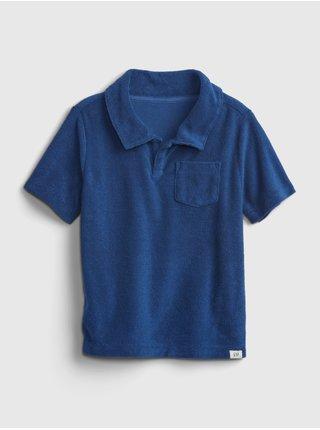 Modré klučičí dětské polo tričko short sleeve shirt GAP
