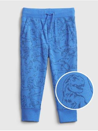 Modré klučičí dětské tepláky novelty jogger GAP
