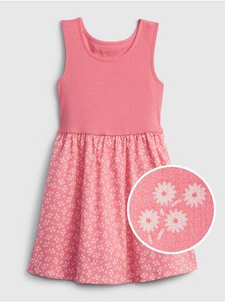 Růžové holčičí dětské šaty mix-media tank dress GAP