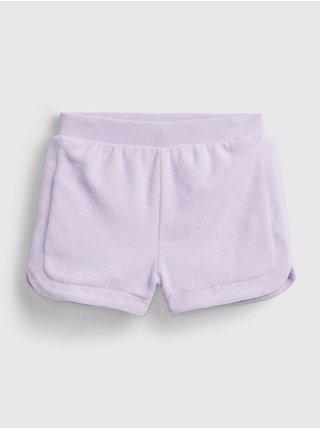 Fialové holčičí dětské kraťasy terry short GAP