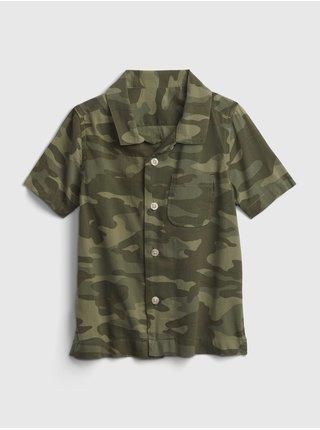 Zelená klučičí dětská košile shirt GAP