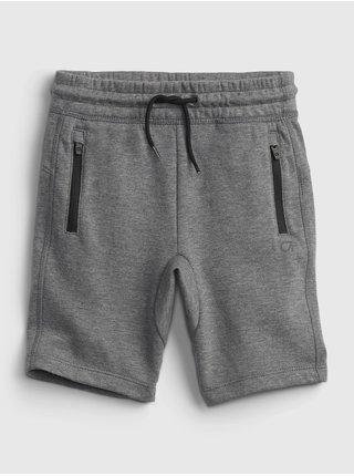 Šedé klučičí dětské kraťasy gapfit fit tech pull-on shorts GAP