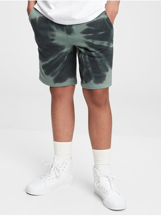 Šedé klučičí dětské kraťasy shorts tie-dye GAP