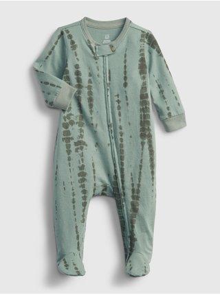Zelený holčičí baby overal 100% organic cotton tie-dye one-piece GAP