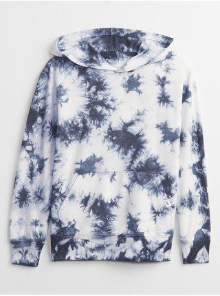 Modrá klučičí dětská mikina tie-dye hoodie GAP