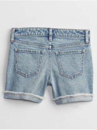 Modré holčičí dětské džínové kraťasy midi denim shorts with stretch GAP