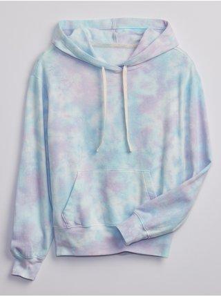 Modrá dámská mikina novelty pocket hoodie GAP