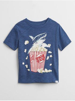 Modré klučičí dětské tričko graphic t-shirt GAP
