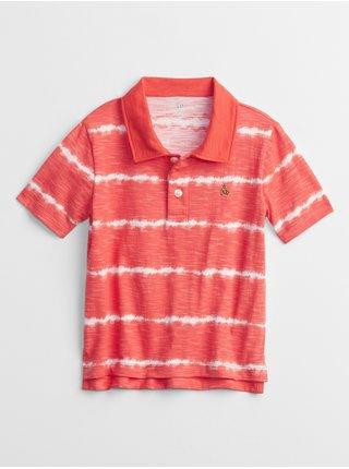 Červené klučičí dětské polo tričko print t-shirt GAP