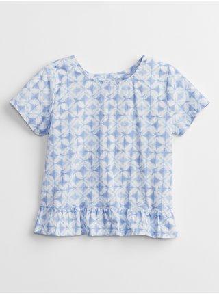 Modré holčičí dětské tričko wrap back t-shirt GAP