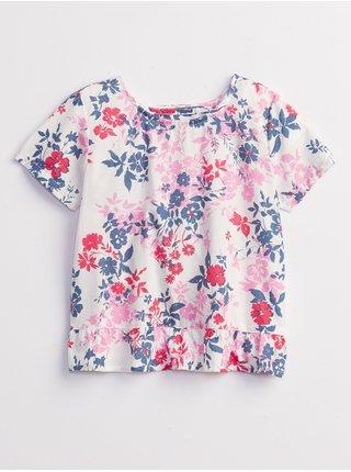 Barevné holčičí dětské tričko wrap back t-shirt GAP