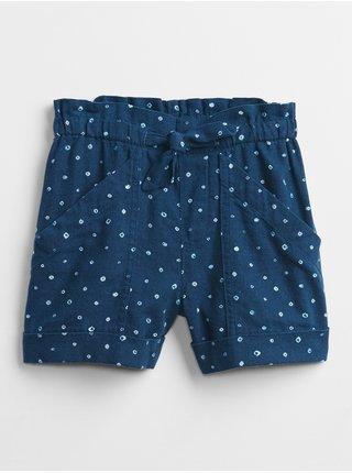 Modré holčičí dětské kraťasy utility pull-on shorts GAP