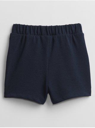 Modré holčičí dětské kraťasy GAP Logo pull-on shorts