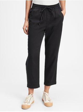 Černé dámské kalhoty easy straight pull-on pants GAP