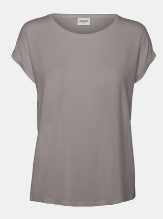 Šedé volné basic tričko AWARE by VERO MODA Ava