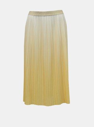 Žltá plisovaná sukňa ONLY Dippy