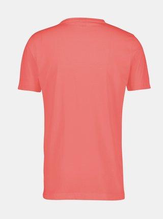 Červené pánské basic tričko LERROS