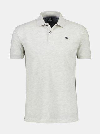 Světle šedé pánské basic polo tričko LERROS