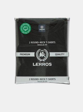 Sada dvou černých pánských basic triček LERROS