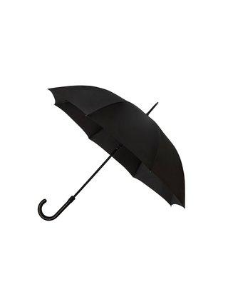 Falcone De luxe Black jednobarevný holový deštník - Černá