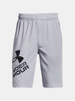 Šedé klučičí kraťasy Under Armour Prototype 2.0 Logo Shorts