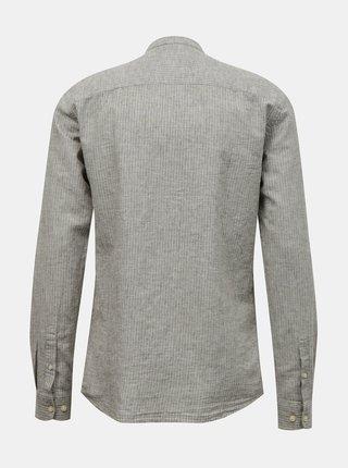Svetlošedá ľanová košeľa ONLY & SONS Caiden