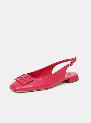 Ružové dámske kožené baleríny Högl