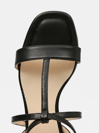 Černé dámské kožené sandály Högl