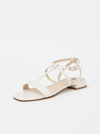 Krémové dámské kožené sandály Högl