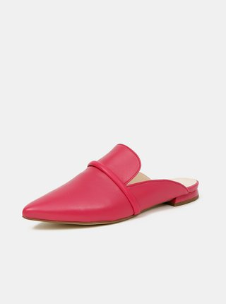 Ružové dámske kožené šľapky Högl