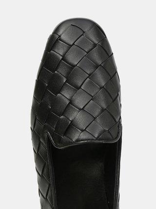 Čierne dámske kožené mokasíny Högl