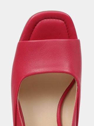 Ružové dámske kožené sandálky na podpätku Högl