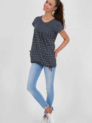 Šedé dámské vzorované dlouhé tričko Alife and Kickin
