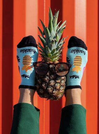 Svetlomodré vzorované členkové ponožky Fusakle Ananista